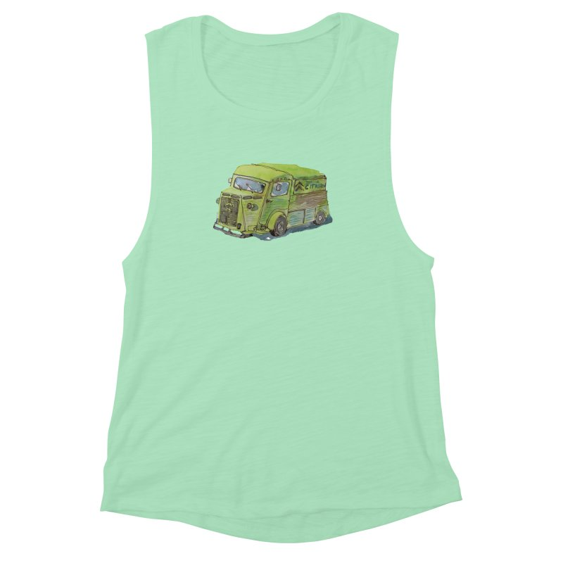 My imaginary food truck Women's Muscle Tank by Siobhan Donoghue's Artist Shop