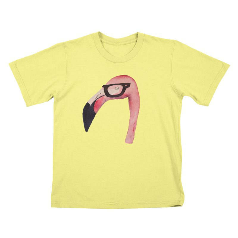 Hipster in Kids T-Shirt Canary by Siobhan Donoghue's Artist Shop