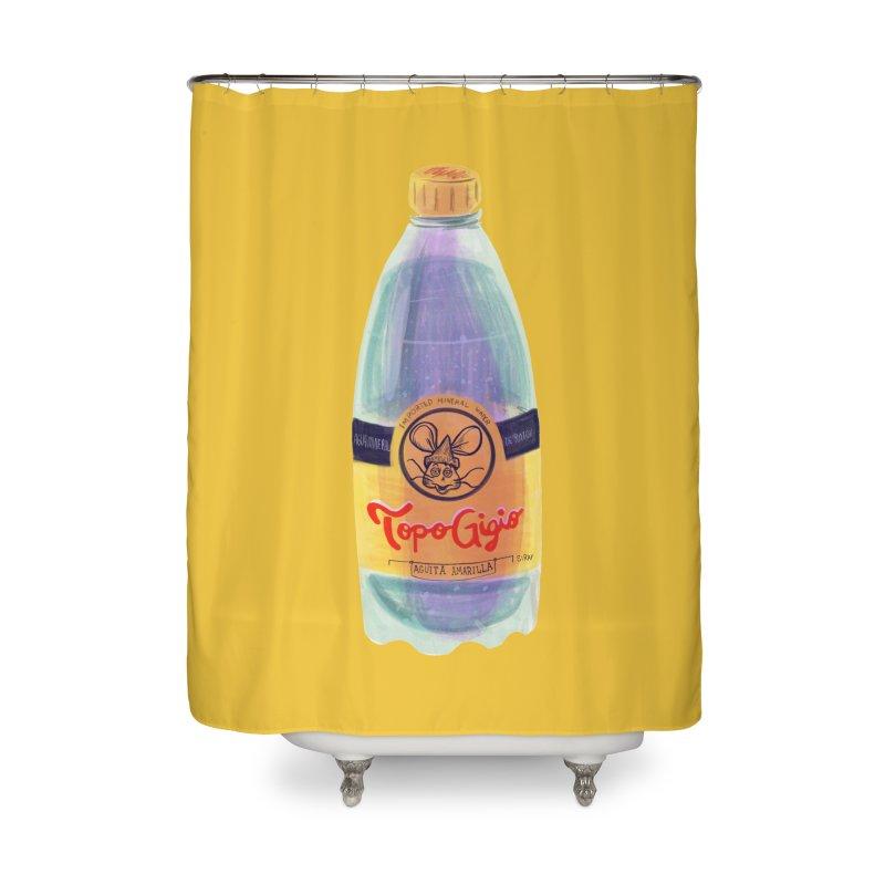 Topo Chico Parody Gigio Home Shower Curtain by Ƨ I Я A K Λ