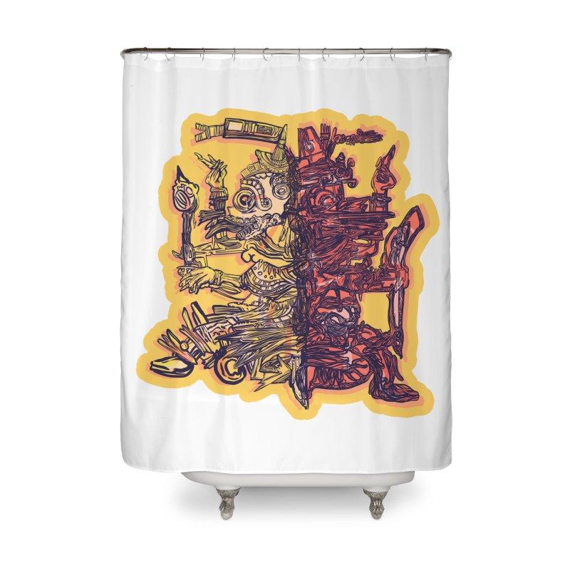Ometeotl Home Shower Curtain by Ƨ I Я A K Λ