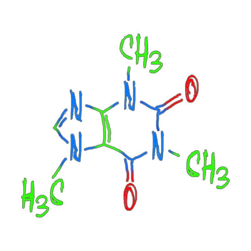 Caffeine Molecule by Sir Lee Tees