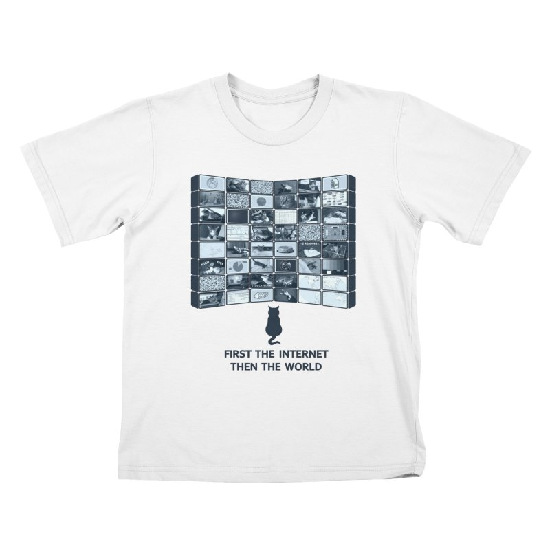 Cats rule the world Kids T-shirt by siso's Shop