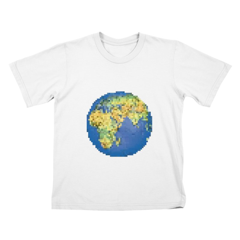 8-Bit World Kids T-shirt by siso's Shop