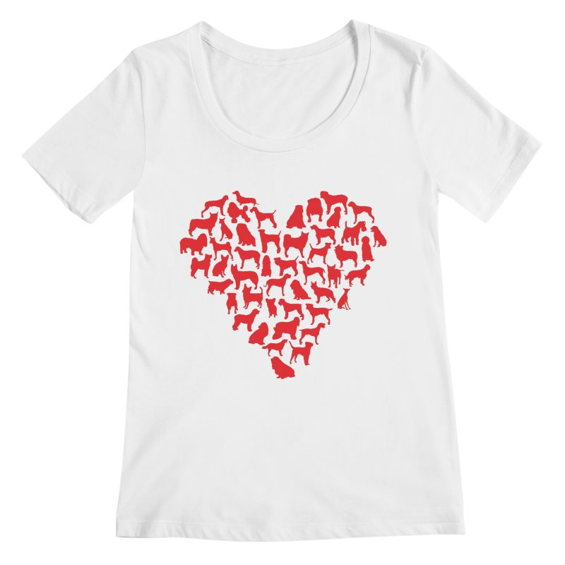 Must love dogs Women's Scoopneck by siso's Shop