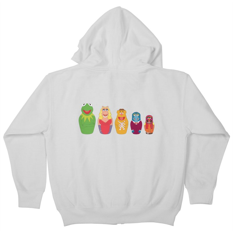 Muppets take Russia Kids Zip-Up Hoody by siso's Shop