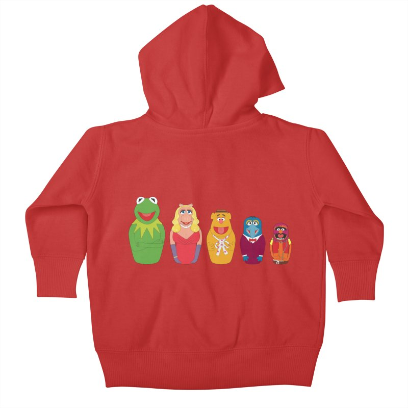 Muppets take Russia Kids Baby Zip-Up Hoody by siso's Shop