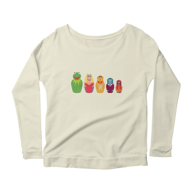Muppets take Russia Women's Longsleeve Scoopneck  by siso's Shop