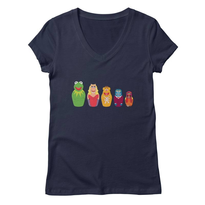 Muppets take Russia Women's V-Neck by siso's Shop