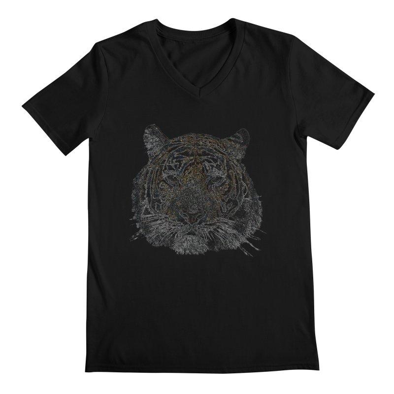Tiger Tiger Men's V-Neck by siso's Shop