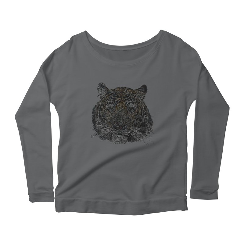 Tiger Tiger Women's Longsleeve Scoopneck  by siso's Shop