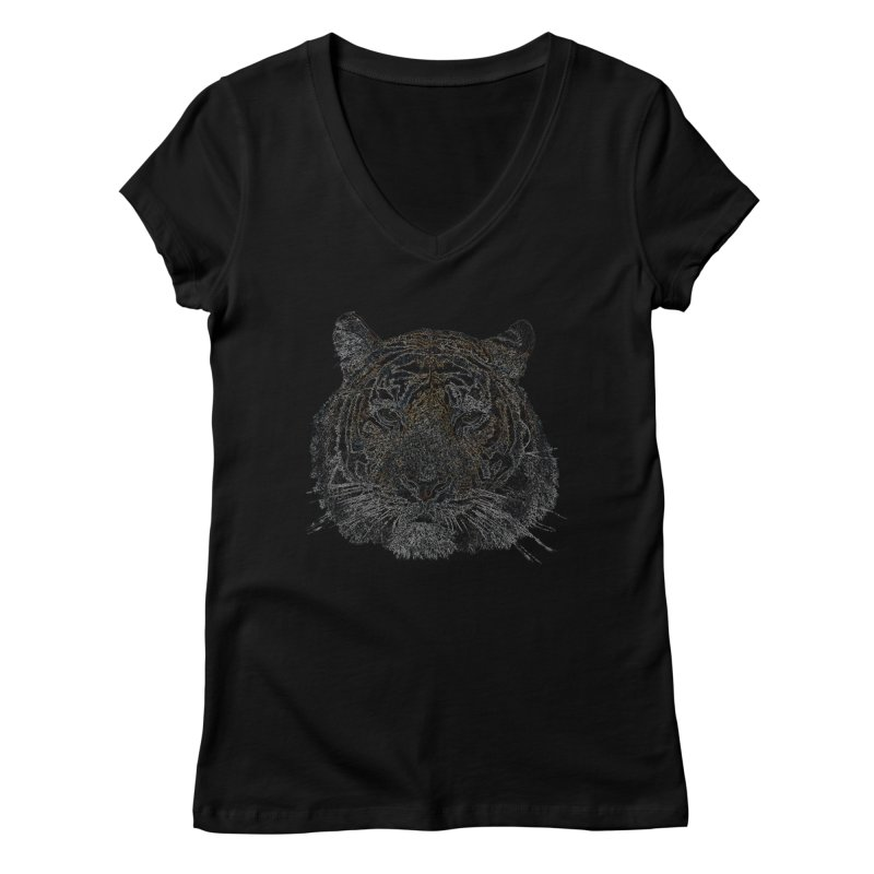 Tiger Tiger Women's V-Neck by siso's Shop