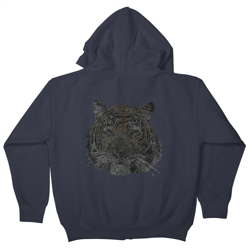 Tiger Tiger Kids Zip-Up Hoody by siso's Shop