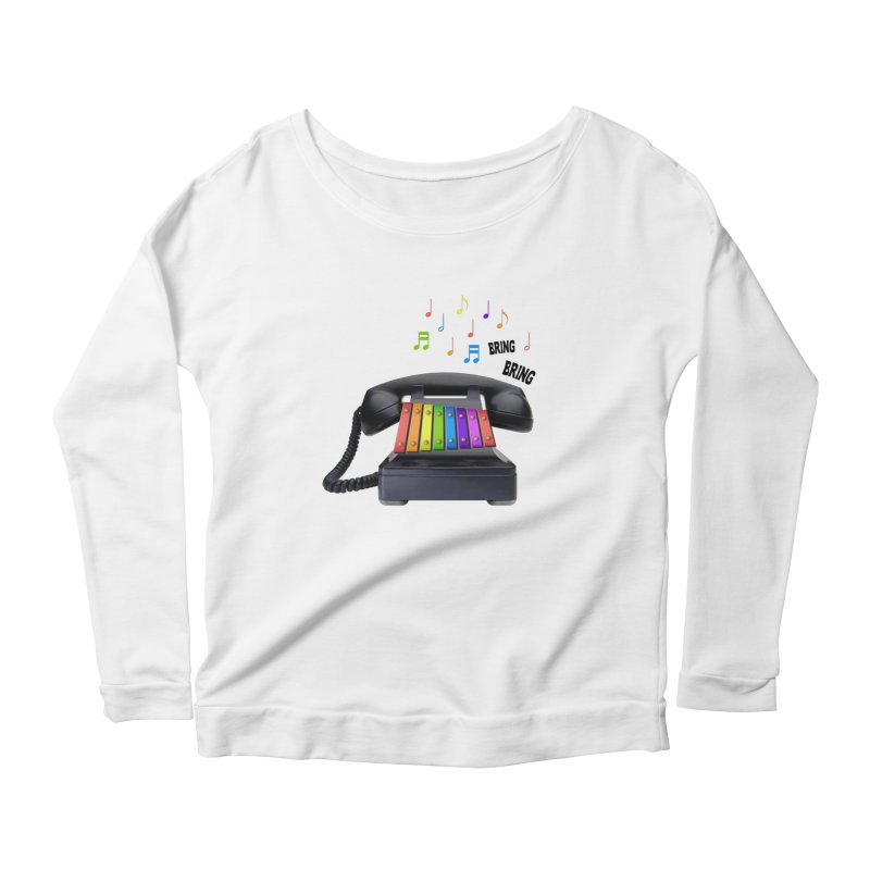xylophone Women's Longsleeve Scoopneck  by siso's Shop