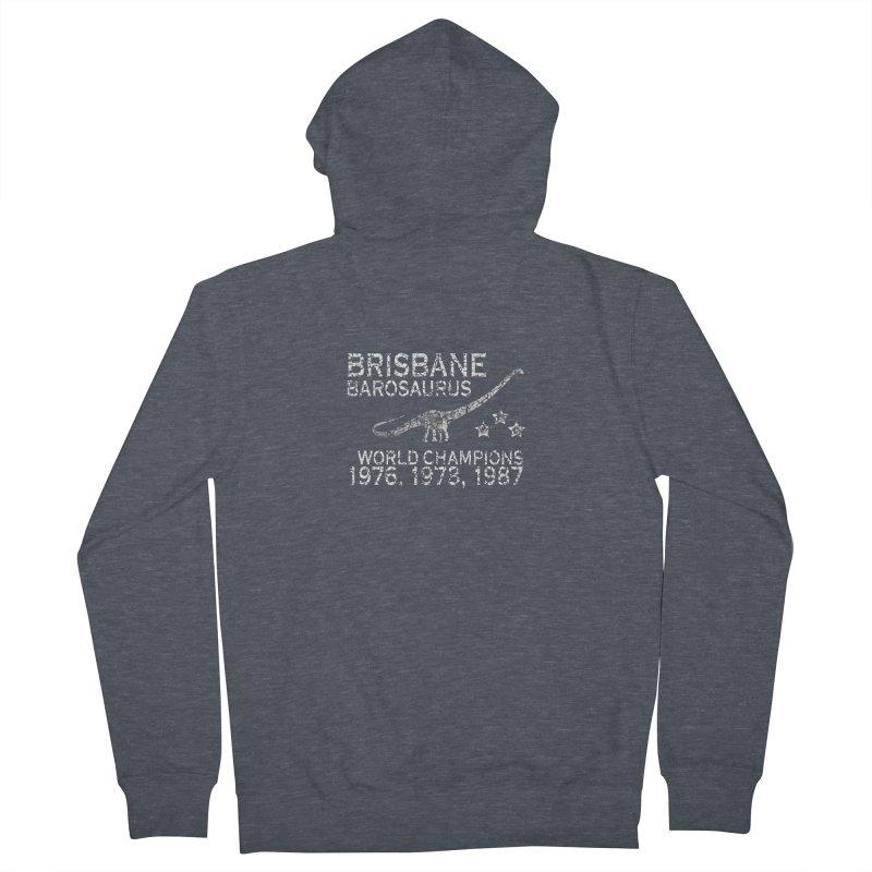 Dino cup - Brisbane Barosaurs (White) Women's Zip-Up Hoody by siso's Shop