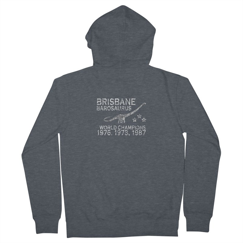 Dino cup - Brisbane Barosaurs (White) Men's Zip-Up Hoody by siso's Shop