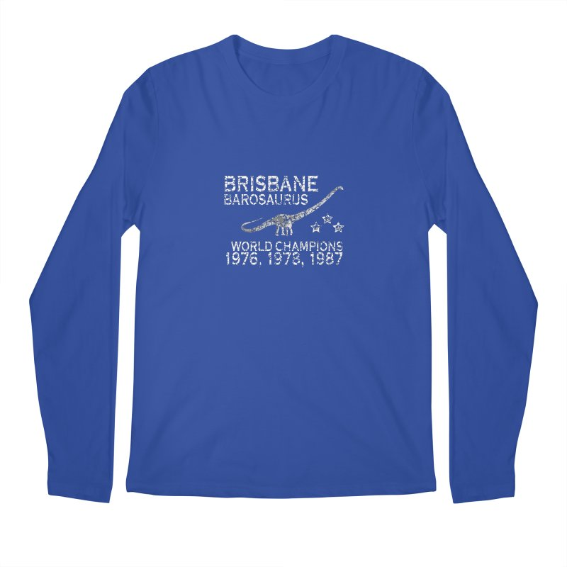 Dino cup - Brisbane Barosaurs (White) Men's Longsleeve T-Shirt by siso's Shop