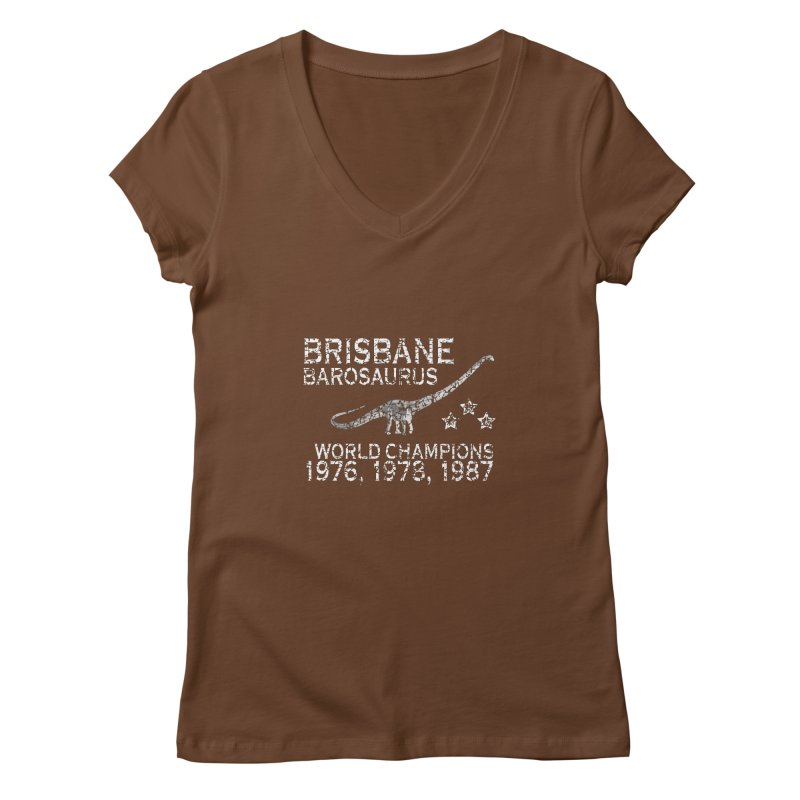 Dino cup - Brisbane Barosaurs (White) Women's V-Neck by siso's Shop