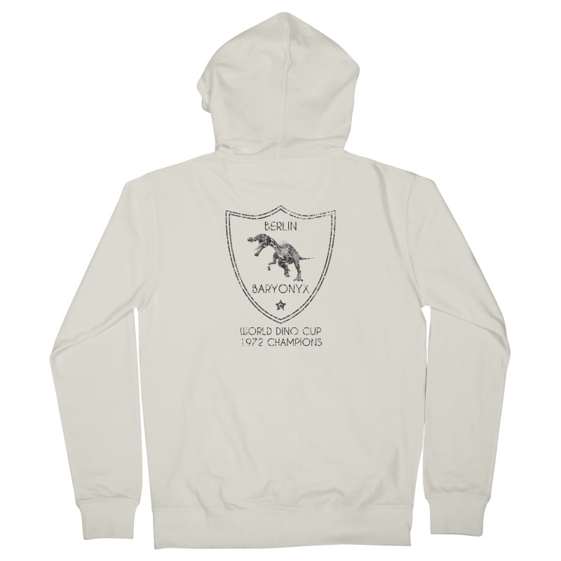 Dino cup - Berlin Baryonyx (Black) Women's Zip-Up Hoody by siso's Shop