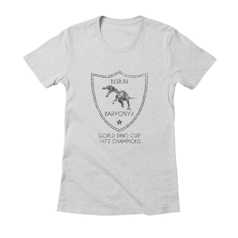 Dino cup - Berlin Baryonyx (Black) Women's Fitted T-Shirt by siso's Shop