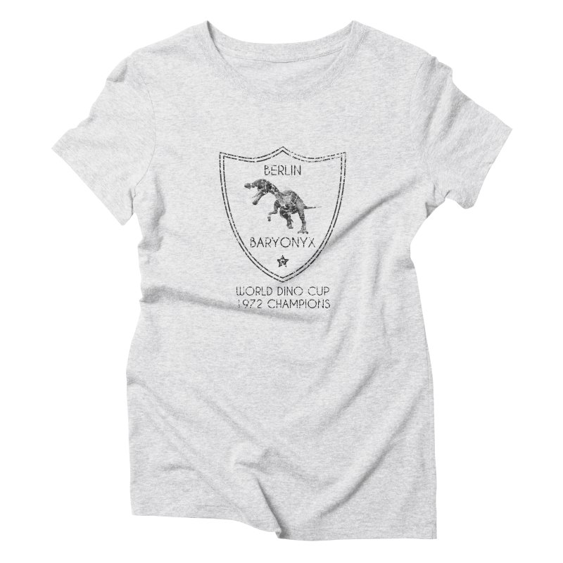 Dino cup - Berlin Baryonyx (Black) Women's Triblend T-Shirt by siso's Shop