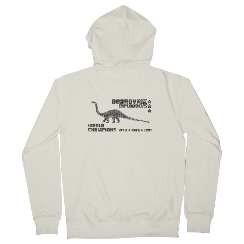 Dino Cup - Dubrovnik Diplodocus (Black) Women's Zip-Up Hoody by siso's Shop