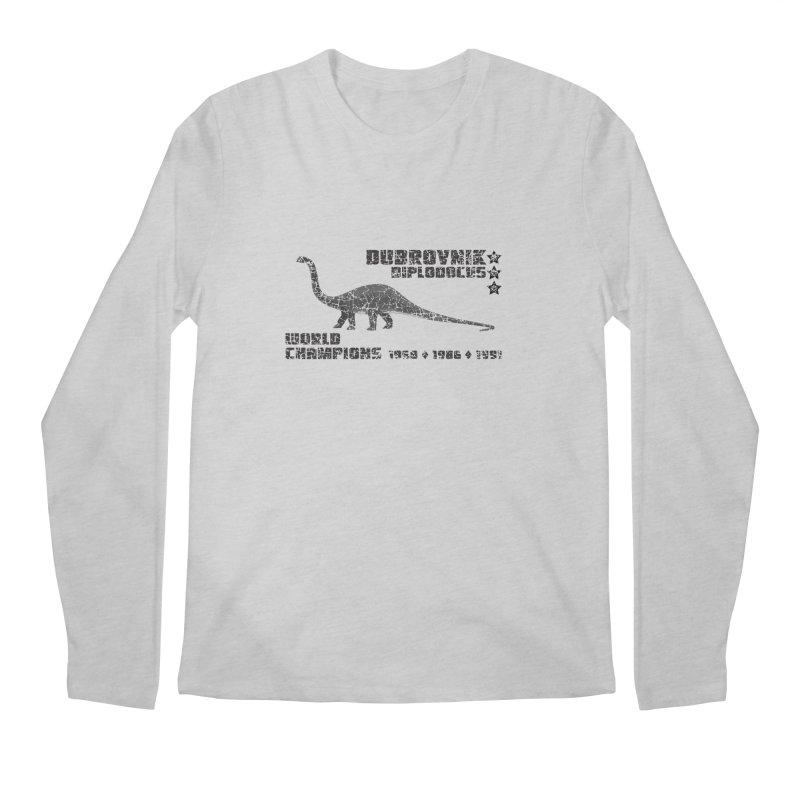 Dino Cup - Dubrovnik Diplodocus (Black) Men's Longsleeve T-Shirt by siso's Shop