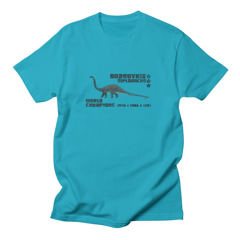 Dino Cup - Dubrovnik Diplodocus (Black) Men's T-shirt by siso's Shop