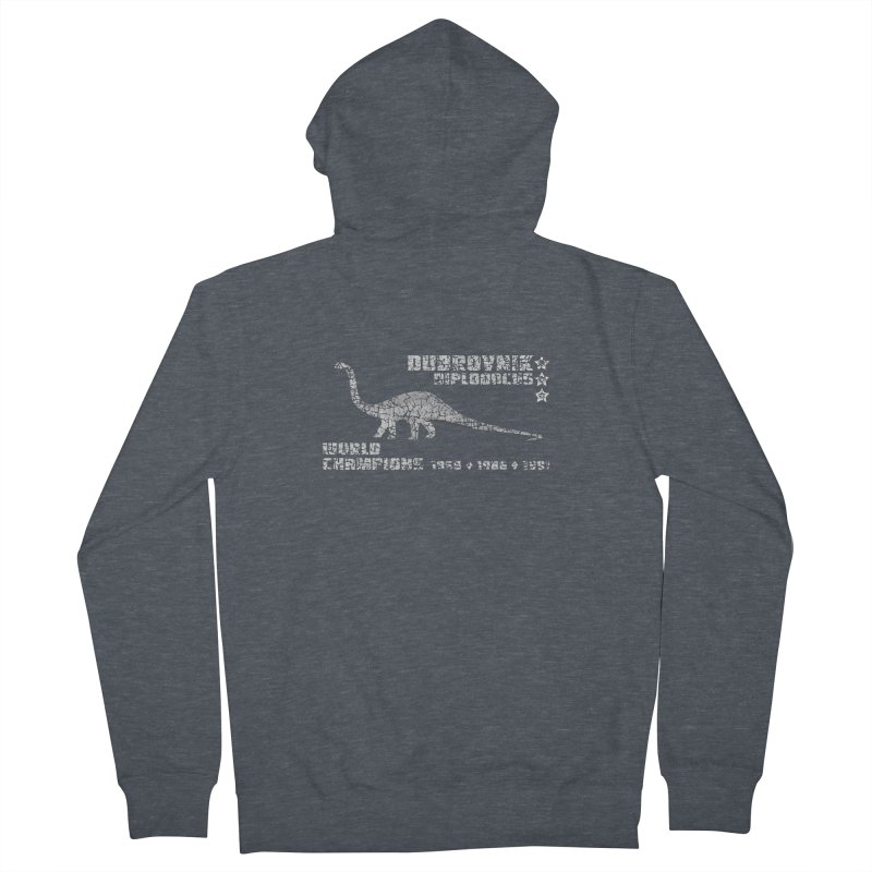 Dino cup - Dubrovnik Diplodocus (White) Women's Zip-Up Hoody by siso's Shop