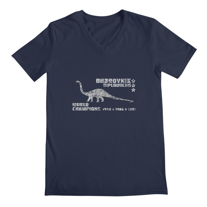 Dino cup - Dubrovnik Diplodocus (White) Men's V-Neck by siso's Shop