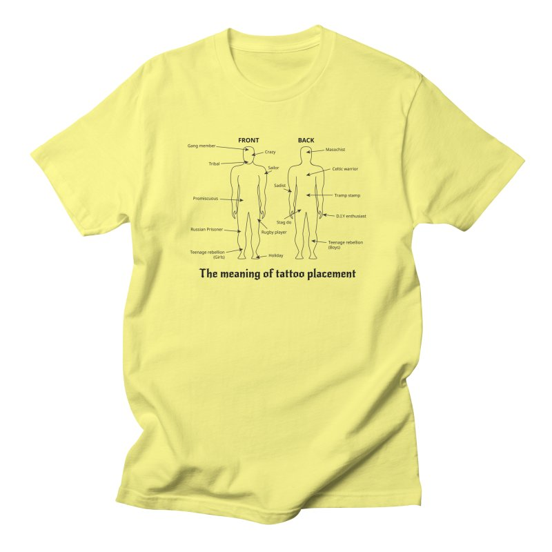 The meaning of tattoo placement Men's T-shirt by siso's Shop
