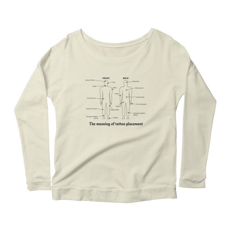 The meaning of tattoo placement Women's Longsleeve Scoopneck  by siso's Shop