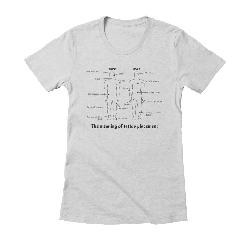 The meaning of tattoo placement Women's Fitted T-Shirt by siso's Shop