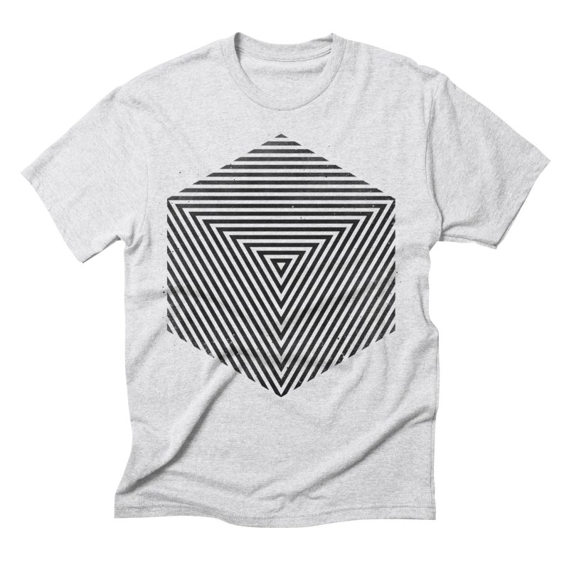 PLACE Cube Men's Triblend T-Shirt by Sitchko