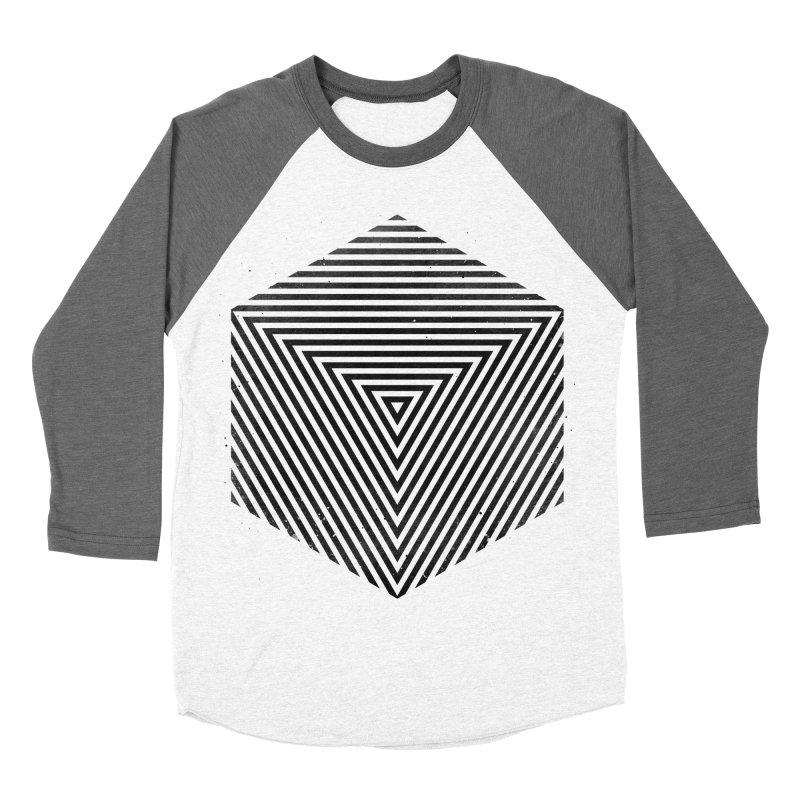 PLACE Cube Women's Baseball Triblend T-Shirt by Sitchko