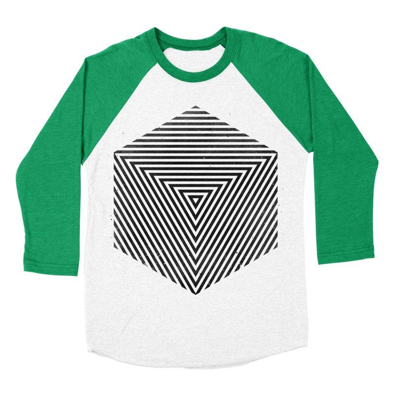 PLACE Cube Men's Baseball Triblend T-Shirt by Sitchko