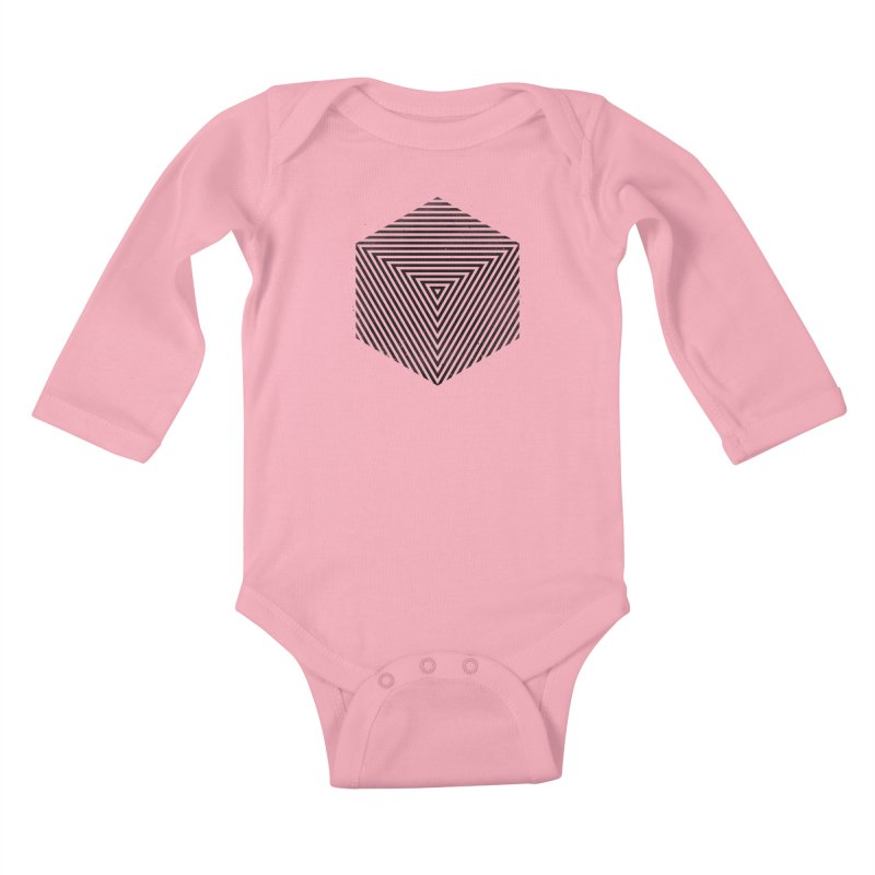 PLACE Cube Kids Baby Longsleeve Bodysuit by Sitchko