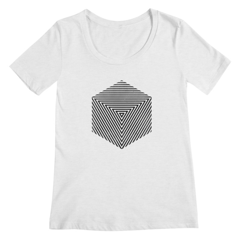 PLACE Cube Women's Scoopneck by Sitchko