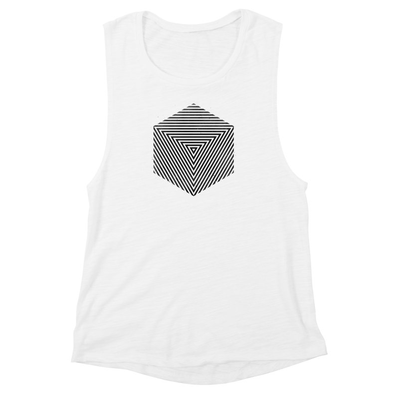 PLACE Cube Women's Muscle Tank by Sitchko