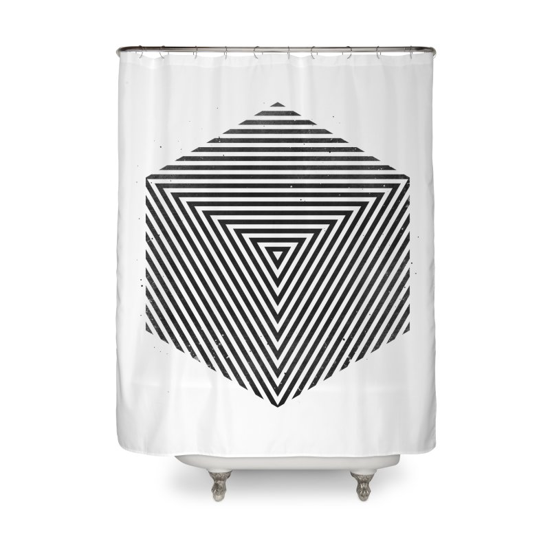 PLACE Cube Home Shower Curtain by Sitchko