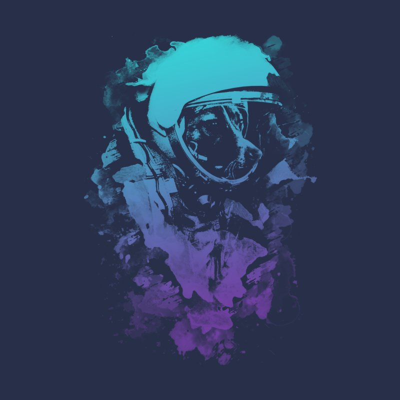 Space Dog (Dark Edition) Men's T-Shirt by Sitchko