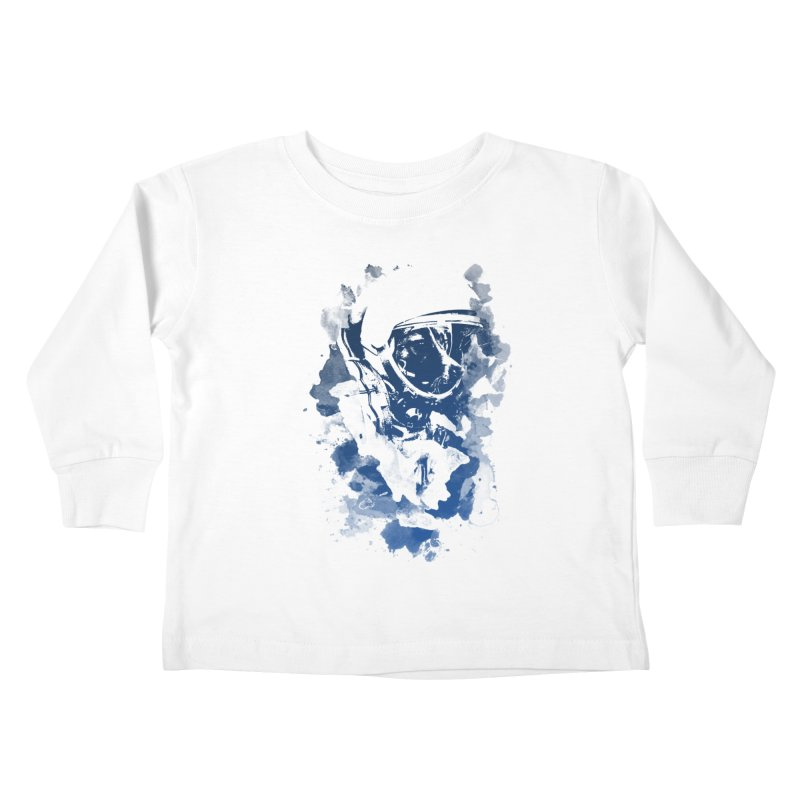 Space Dog Kids Toddler Longsleeve T-Shirt by Sitchko