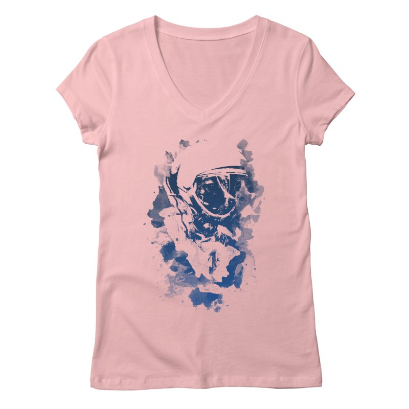 Space Dog Women's V-Neck by Sitchko