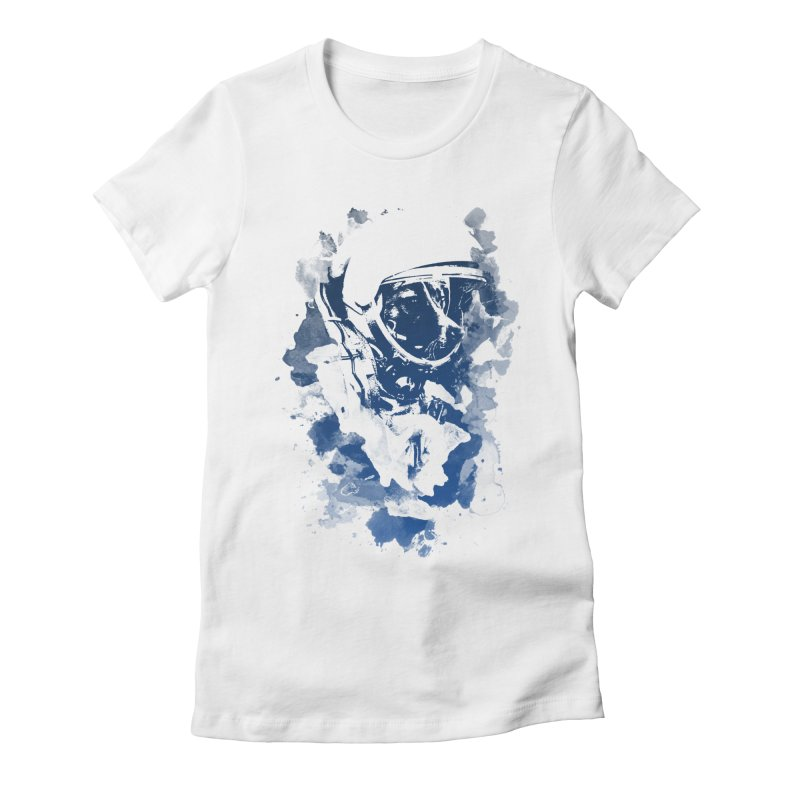 Space Dog Women's Fitted T-Shirt by Sitchko