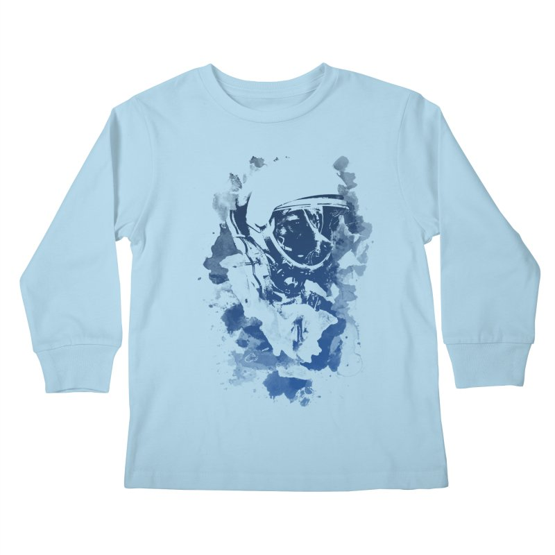 Space Dog Kids Longsleeve T-Shirt by Sitchko