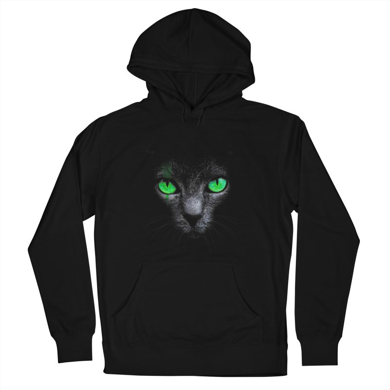 Black Cat Women's Pullover Hoody by Sitchko