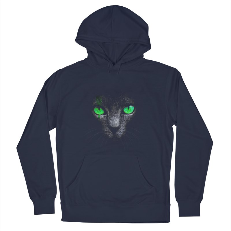 Black Cat Men's Pullover Hoody by Sitchko