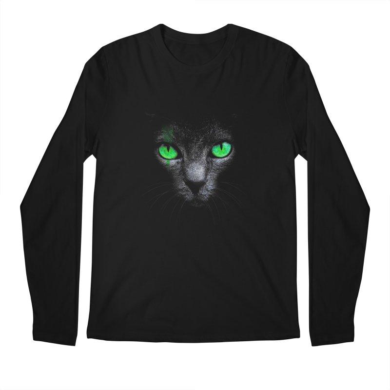 Black Cat Men's Longsleeve T-Shirt by Sitchko
