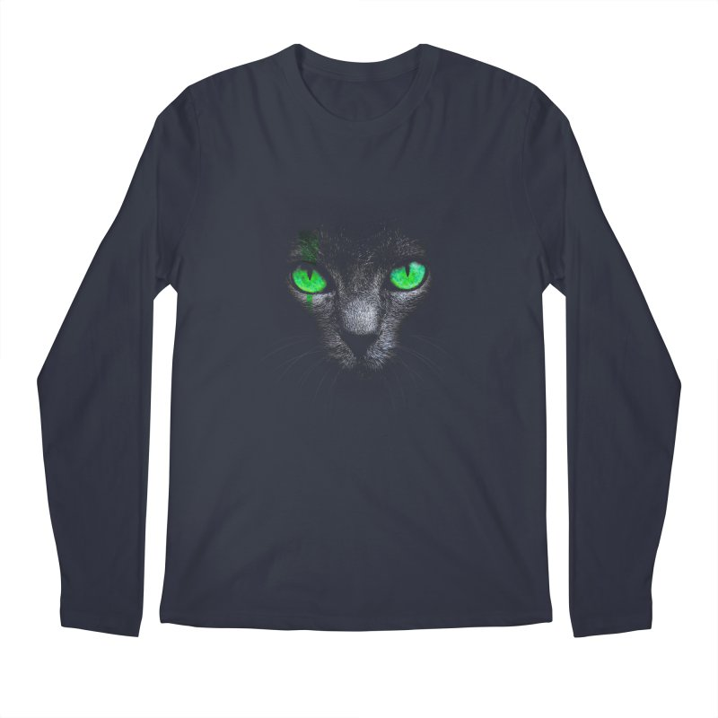 Black Cat Men's Longsleeve T-Shirt by Sitchko