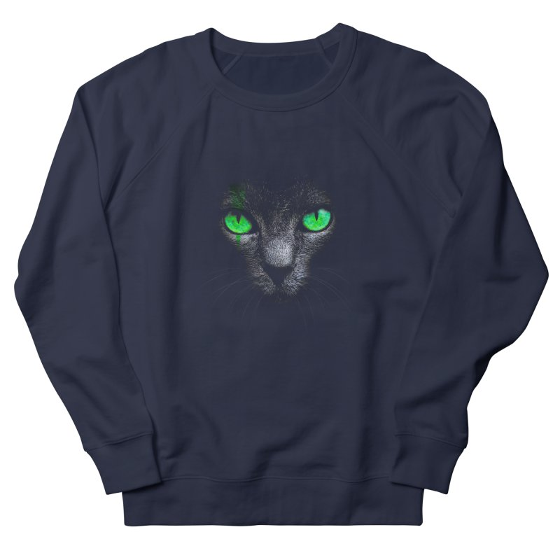 Black Cat Women's Sweatshirt by Sitchko