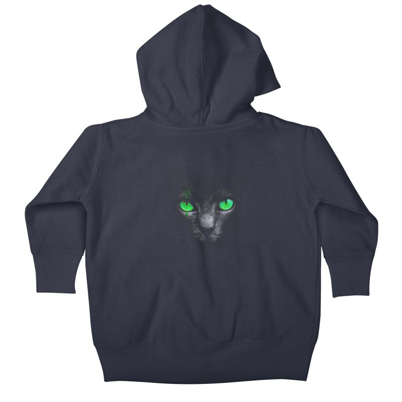 Black Cat Kids Baby Zip-Up Hoody by Sitchko